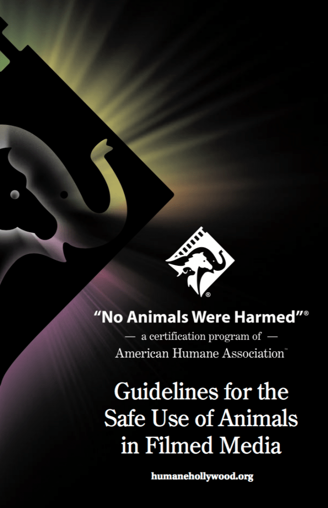 Guidelines For Producers Filmmakers American Humane