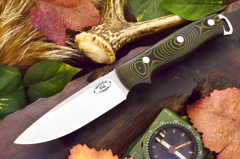 akc shenandoah black and green linen micarta 279.95