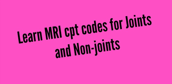 MRI Cpt codes in radiology facility