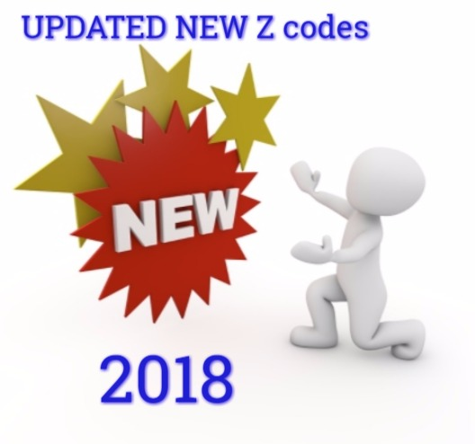 New Updated ICD10 Z codes for 2018