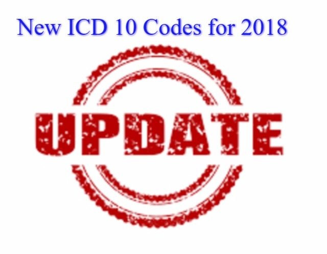 New ICD 10 Codes for 2018 for Medical coders