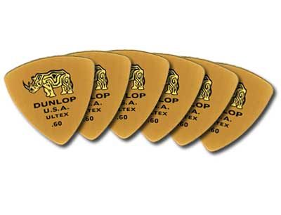 Dunlop 426P Ultex Triangle Guitar Picks 6 Pack