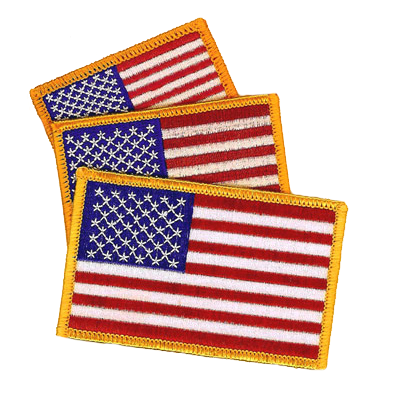 Three American Flags Patch