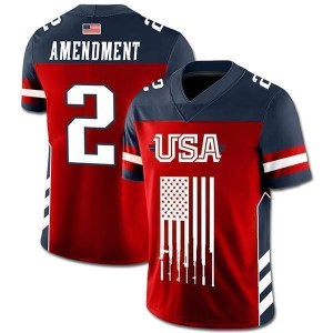 USA 2nd Amendment Football Jersey