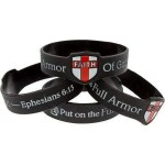 Armor Of God Faith Shield Silicone Bracelet (2 Variants)