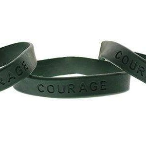 Courage Green Silicone Bracelet