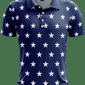 Stars No Bars Golf Polo American Patriots Apparel