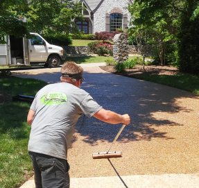 Exposed Aggregate Cleaning and Sealing