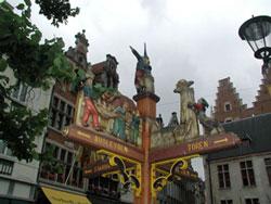 Street sign in the historic center of Mechelen, Belgium