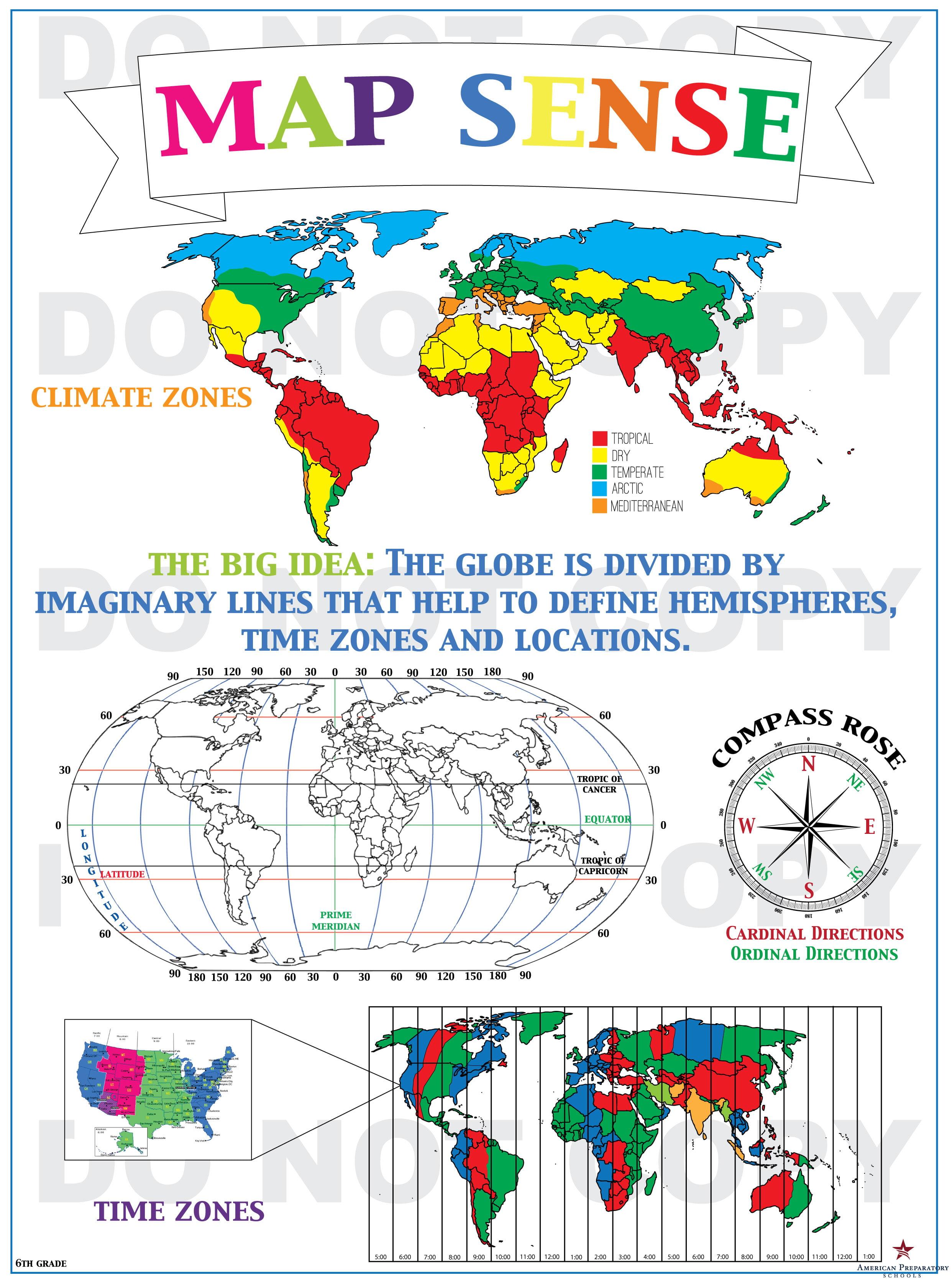 Map Sense 6th Grade