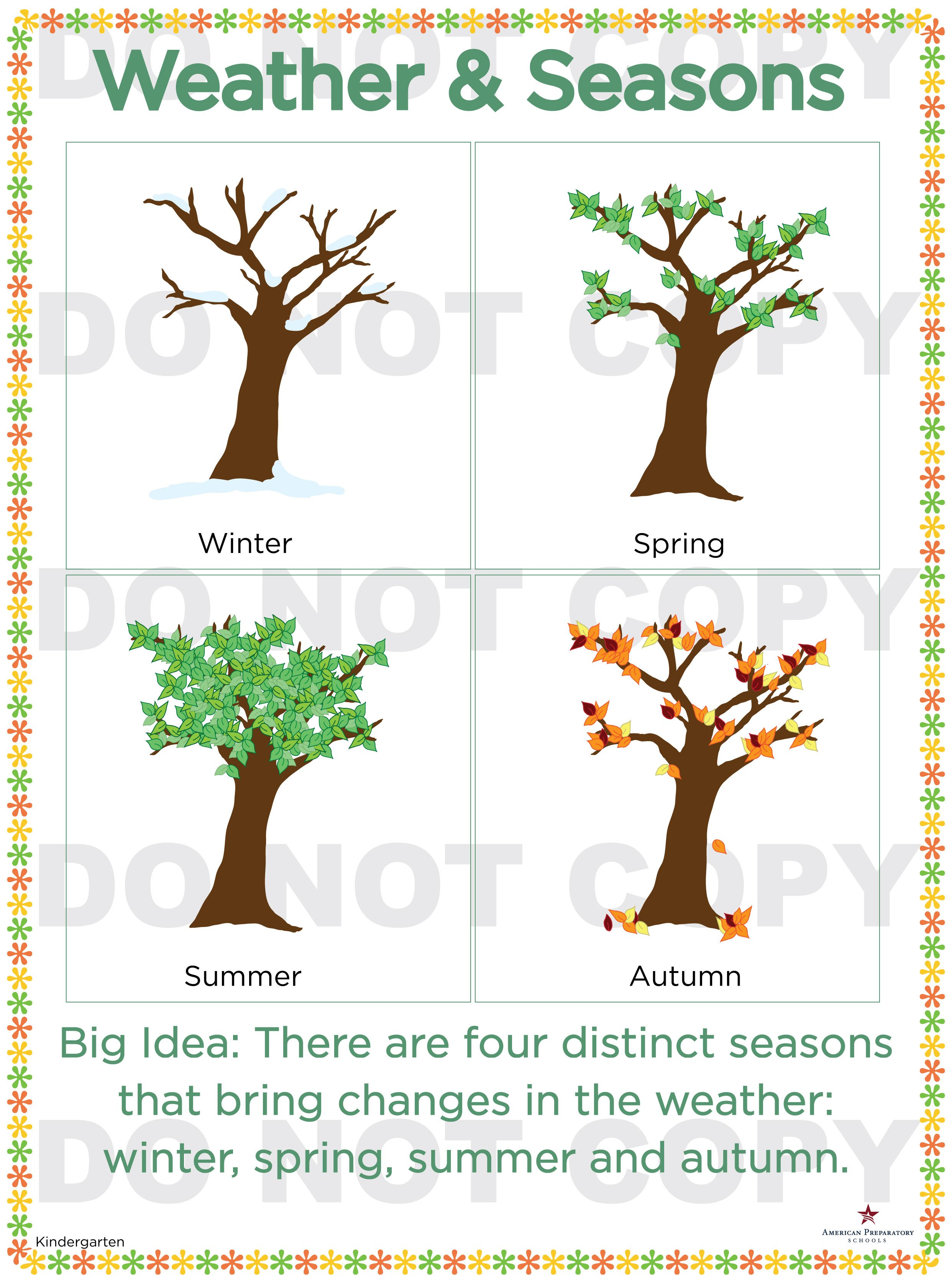 Weather And Seasons Kindergarten