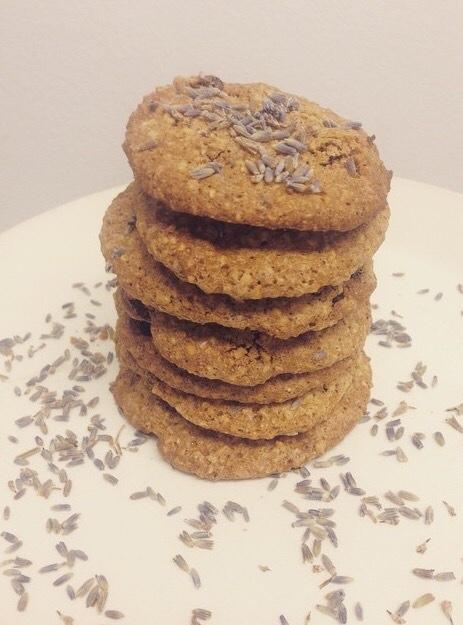 La Lavender Oatmeal Cookies by Dahlia Mayerson