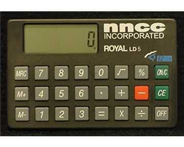 Royal LD5 Mini Calculator For Checkbooks Or Folios