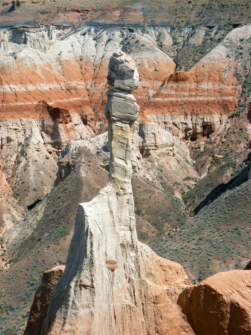 Isolated Hoodoo Coal Mine Canyon Arizona
