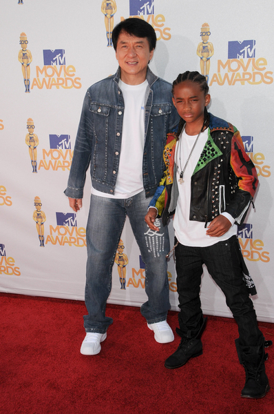 Jackie Chan and Jaden Smith Pictures: MTV Movie Awards 2010 Red Carpet Photos and Pics