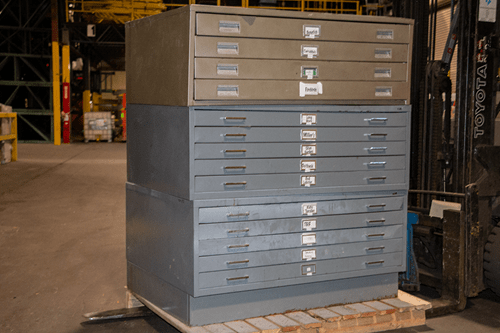 Used Safco 5 Drawer Flat File Cabinets American Surplus