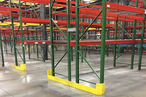 used pallet rack end of aisle guards