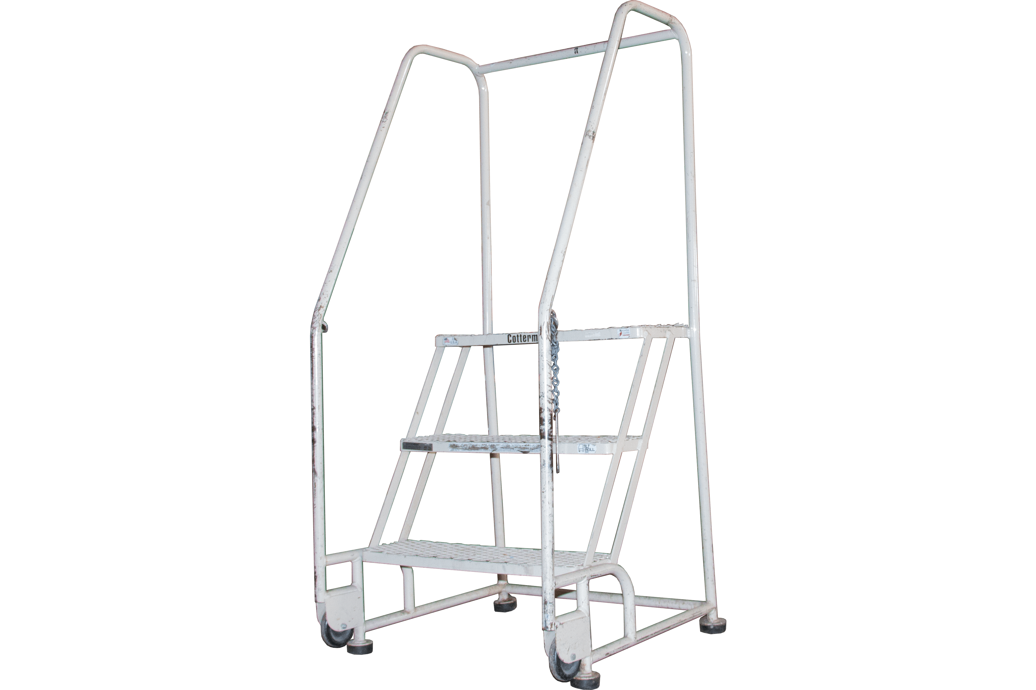 Used Cotterman Tilt Roll Style 3 Step Rolling Ladders