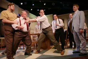 """12 Angry Men"" by Reginald Rose, at A.D. Players Theater in Houston. (Photo by Jon Shapley)"