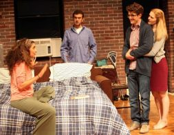 """Rebecca Benhayon and Kenny Toll in """"Bad Jews"""" at Magic Theatre (photo by Jennifer Riley)"""
