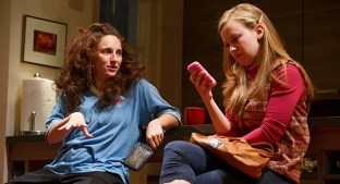 "Tracee Chimo and Molly Ranson in ""Bad Jews"" at Roundabout Theatre Company (photo by Joan Marcus)"