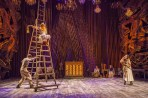 """Patrick Mulryan, Emily Young and Alison Cimmet in """"Into the Woods"""" at the Old Globe. (Photo by Jim Cox)"""