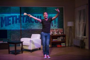 Steven Strafford in METHTACULAR!, an About Face Theatre production running at Theater Wit in Chicago through Sept. 28