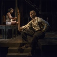 """Native Son,"" adapted from Richard Wright's novel by Nambi E. Kelley, at the Court Theatre in Chicago; with Tracey N. Bonner and Jerod Haynes (photo by Michael Brosilow)"