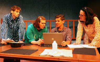 """""""Tribes"""" at Capital Stage Company. (Photo by Charr Crail)"""