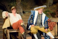 """""""Equivocation"""" by Bill Cain, running through Oct. 4 at Will Geer Theatricum Botanicum in Topanga, Ca.; with Dane Oliver and Alan Blumenfeld (photo by Ian Flanders)"""