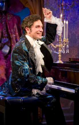 """Liberace!"" by Brent Hazleton, at Milwaukee Repertory Theater through Jan. 11, 2015; pictured: Jack Wilson Forbes (photo by Michael Brosilow)"