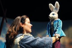 """""""The Miraculous Journey of Edward Tulane,"""" adapted by Dwayne Hartford from Kate DiCamillo's book, at Childsplay in Tempe, Az. through Nov. 16; pictured: Debra K. Stevens (photo by Tim Trumble)"""