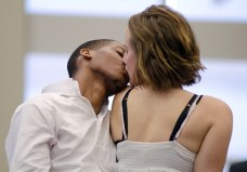 """""""Romeo and Juliet"""" by William Shakespeare, a production of Ten Thousand Things, at Open Book in Minneapolis through Oct. 26, and at MN Opera Center in Minneapolis Oct. 30-Nov. 2; pictured: Namir Smallwood and Anna Sundberg"""
