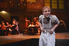 """""""Sweeney Todd"""" by Hugh Wheeler and Stephen Sondheim, at TheatreWorks in Palo Alto, Calif. through Nov. 2; pictured: Spencer Kiely and cast (photo by Kevin Berne)"""