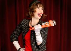 """Clues"" at Jet City Improv in Seattle through Nov. 22; pictured: Audra Goffeney"