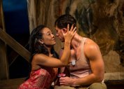 """The 2014 production of """"South Pacific"""" at Asolo Repertory Theatre in Sarasota, Fla. Pictured: Autumn Ogawa and Anthony Festa. (Photo by Cliff Roles)"""