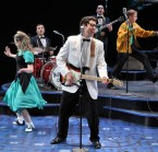 """""""Buddy--The Buddy Holly Story"""" by Alan Janes, at the History Theatre in St. Paul, Minn. through Dec. 21. Pictured: Nicholas Freeman."""