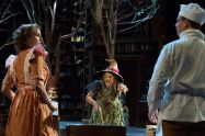 "Garrett Long, Lisa Brescia and Jeffrey Meanza in ""Into the Woods"" at PlayMakers Rep in Chapel Hill, N.C. (Photo by Jenny Graham)"