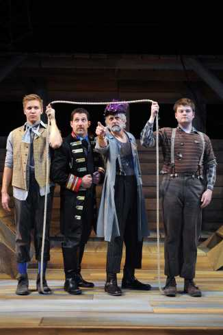 """Peter and the Starcatcher"" by Rick Elice, a Company of Fools production at the Sun Valley Center for the Arts in Ketchum, Ida., through Jan. 3. Pictured: . David Kepner, Loren Jones, Scott Creighton and Chris Canfield. (Photo by Kirsten Shultz)"