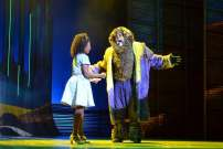 """""""The Wiz"""" by Charlie Smalls and William F. Brown, at the Maltz Jupiter Theatre in Jupiter, Fla., through Feb. 1. Pictured: Destinee Rea and Trevor Dion Nicholas. (Photo by Linnea Bailey)"""