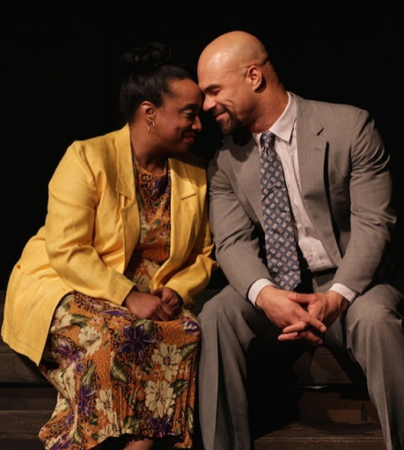 """Yellowman"" by Dael Orlandersmith, at the Performance Network Theatre in Ann Arbor, Mich. through Feb. 15. Pictured: Casaundra Freeman and Jonathan West."