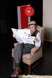 """Balloonacy"" by Barry Kornhauser, at the Rose Theatre in Ohama, Neb. through Jan. 31. Pictured: Kevin Ehrhart."