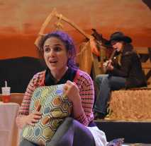 """Late: A Cowboy Song"" by Sarah Ruhl, at Custom Made Theatre Co. in San Francisco through Feb. 1. Pictured: Maria Leigh and Red Lauren Preston. (Photo by Jay Yamada)"