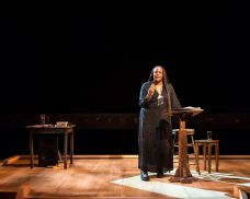 """Forever"" by Dael Orlandersmith, at Long Wharf Theatre in New Haven, Conn. through Feb. 1. Pictured: Orlandersmith."