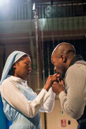 """""""Measure for Measure"""" by William Shakespeare, an Actors Shakespeare Project production at the Multicultural Arts Center in Cambridge, Mass., through Feb. 1. Pictured: Adrianna Mitchell amd Maurice Emmanuel Parent. (Stratton McCrady Photography)"""