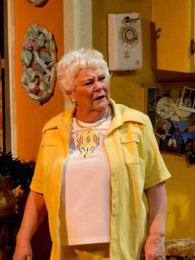 """""""True West"""" by Sam Shepard, at Open Stage Theatre Co. in Fort Collins, Colo., through Jan. 31. Pictured: Kathy Leonard."""