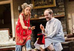 """""""Vanya and Sonia and Masha and Spike"""" by Christopher Durang, at Portland Center Stage on Portland, Ore., through Feb. 8. Pictured: Olivia Negron and Andrew Sellon. (Photo by Patrick Weishampel)"""