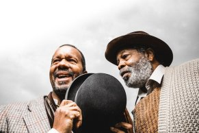 """""""Waiting for Godot"""" by Samuel Beckett, at the Court Theatre in Chicago through Feb. 15. Pictured: Allen Gilmore and Alfred H. Wilson. (Photo by Joe Mazza/Brave Lux Inc.)"""