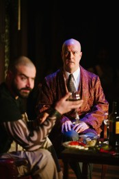 """""""The Arsonists"""" by Max Frisch, translated by Alistair Beaton, at the Maryland Ensemble Theatre in Frederick, Md., through Mar. 8. Pictured: Clay Comer and Tad Janes. (Photo by Spence Photographics LLC)"""