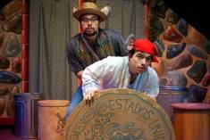 """""""Dia De Los Cuentos""""---by Buck Busfield, Jerry Montoya, and Dave Pierini---at B Street Theatre in Sacramento, Calif., playing through March 29. Pictured: Nestor Campos Jr., left, and Armando Rivera."""